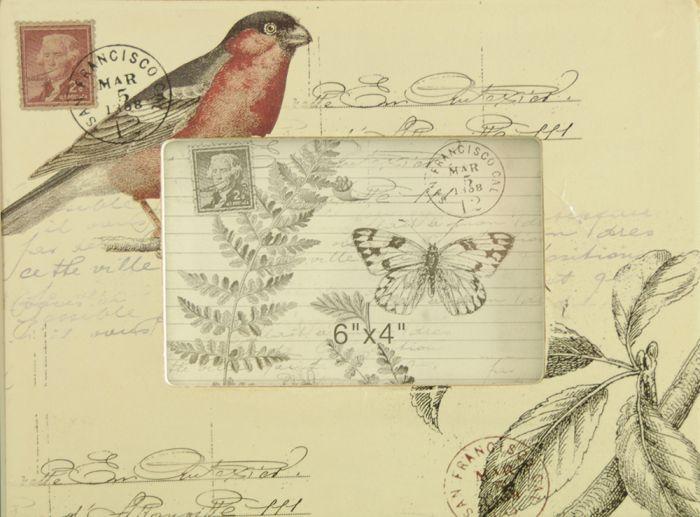 Bird & Butterfly Post Frame