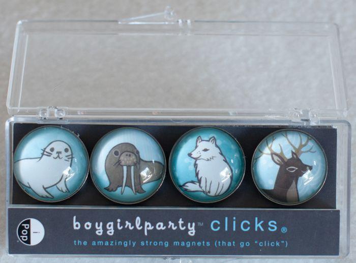 Winter Animals Clicks® Magnet 4-Pack.