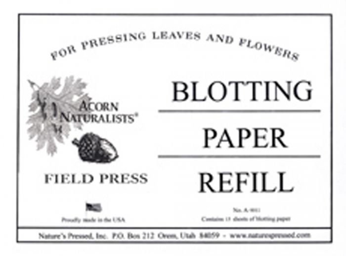 Acorn Naturalists Pocket Plant Press Additional Blotters (15 Pack)