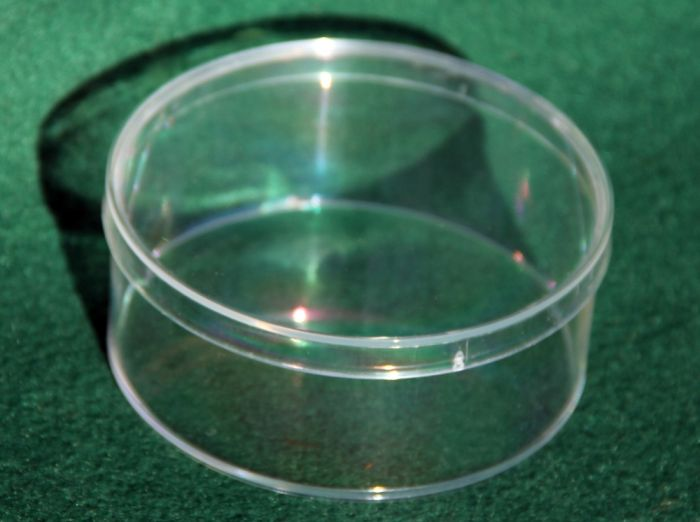 Storage/Display Container (Medium, Clear Round)