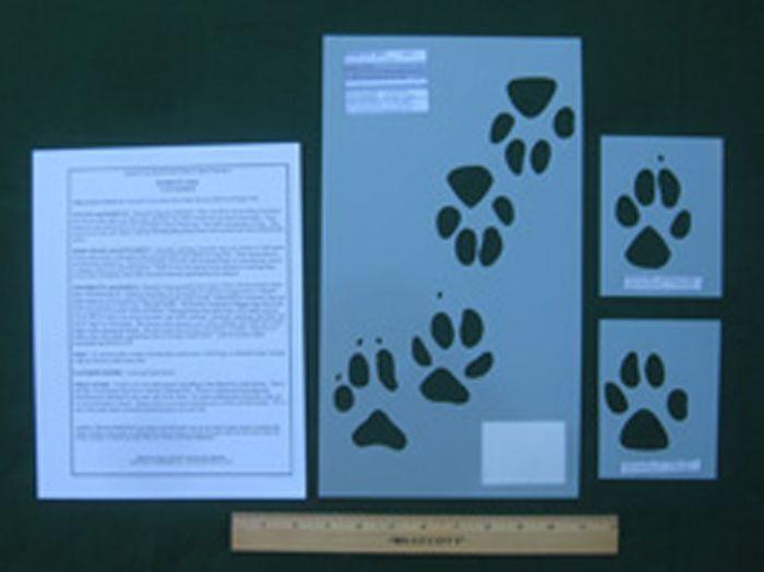 Domestic Dog Tracking Stencils
