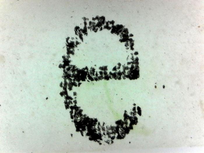 """Letter """"E"""" Microscope Slide"""