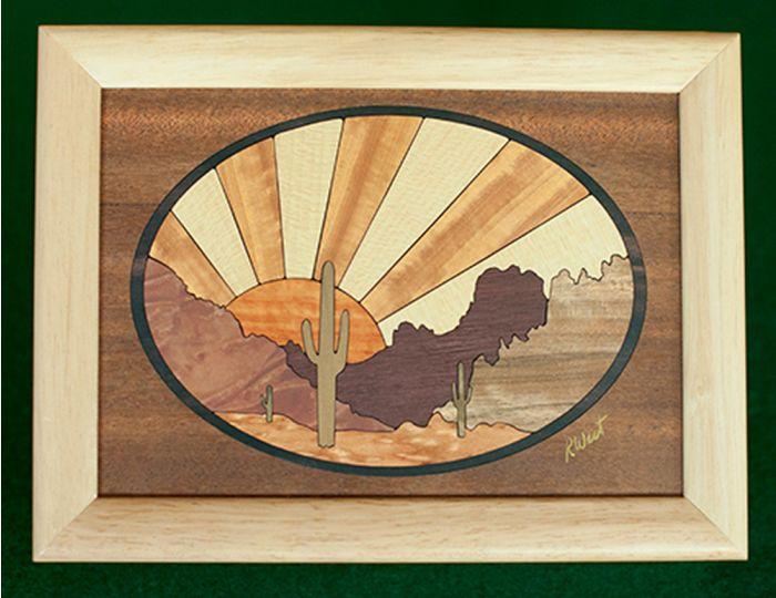 Desert Sun Wood Box (6 X 8)