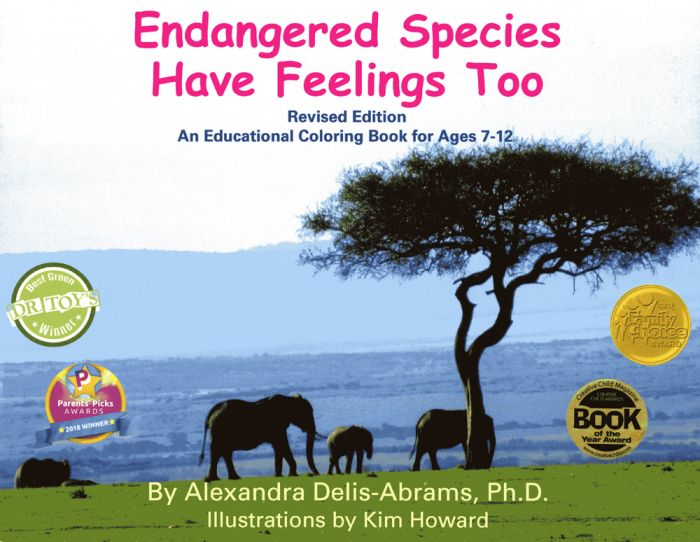 Endangered Species Have Feelings Too: An Educational Coloring Book for Ages 7-12