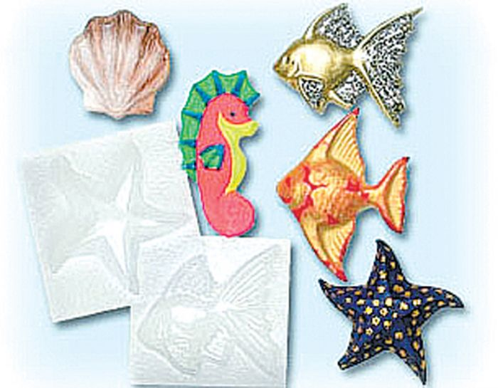 Aquatic Life Plastic Molds.