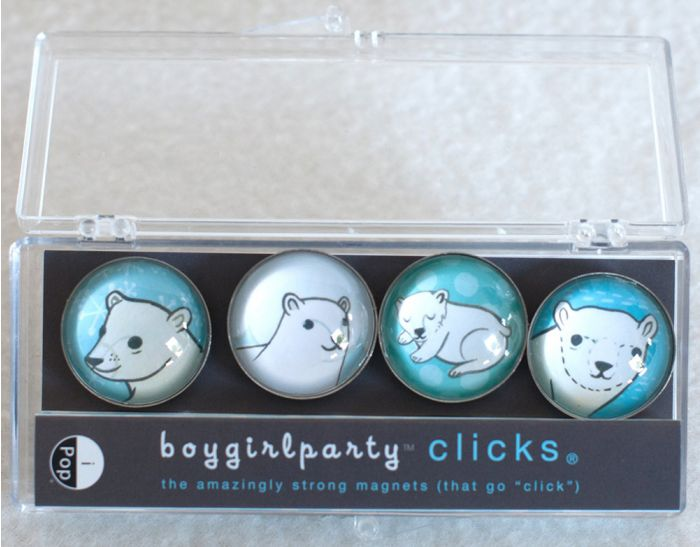 Polar Bear Clicks® Magnet 4-Pack.