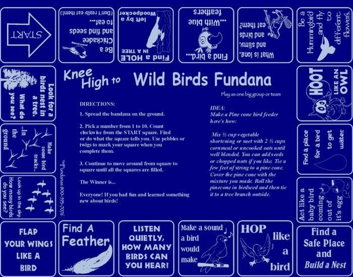 Knee High to Wild Birds Scarf (Fundana® Knee High Bandana)