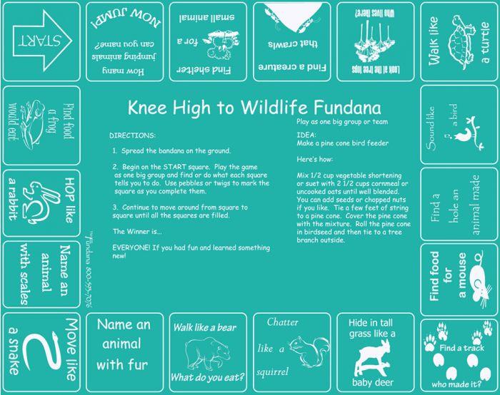 Knee High to Wildlife Scarf (Fundana® Knee High Bandana).