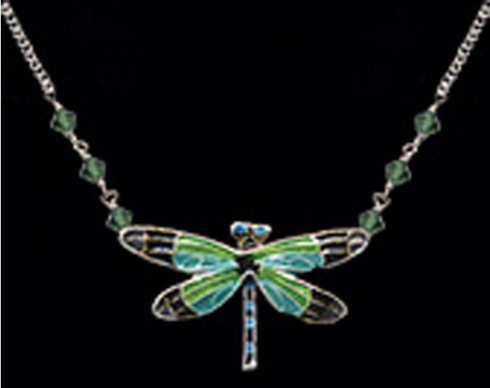 Radiant Gossamer Wing Dragonfly Necklace