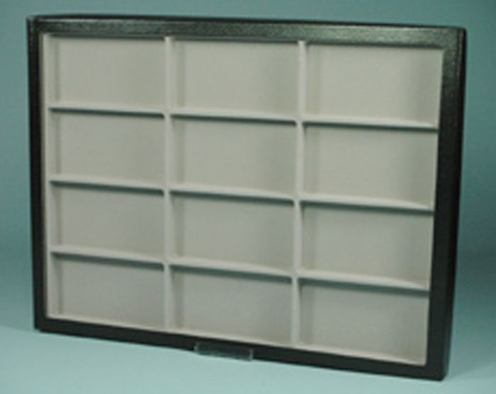 "Glass-Topped Sectional Display Case (12"" X 16"" X ¾"""