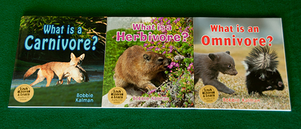 What is a Carnivore, Herbivore, Omnivore? Book + CD Series Collection (Discounted Set of 3 Titles)