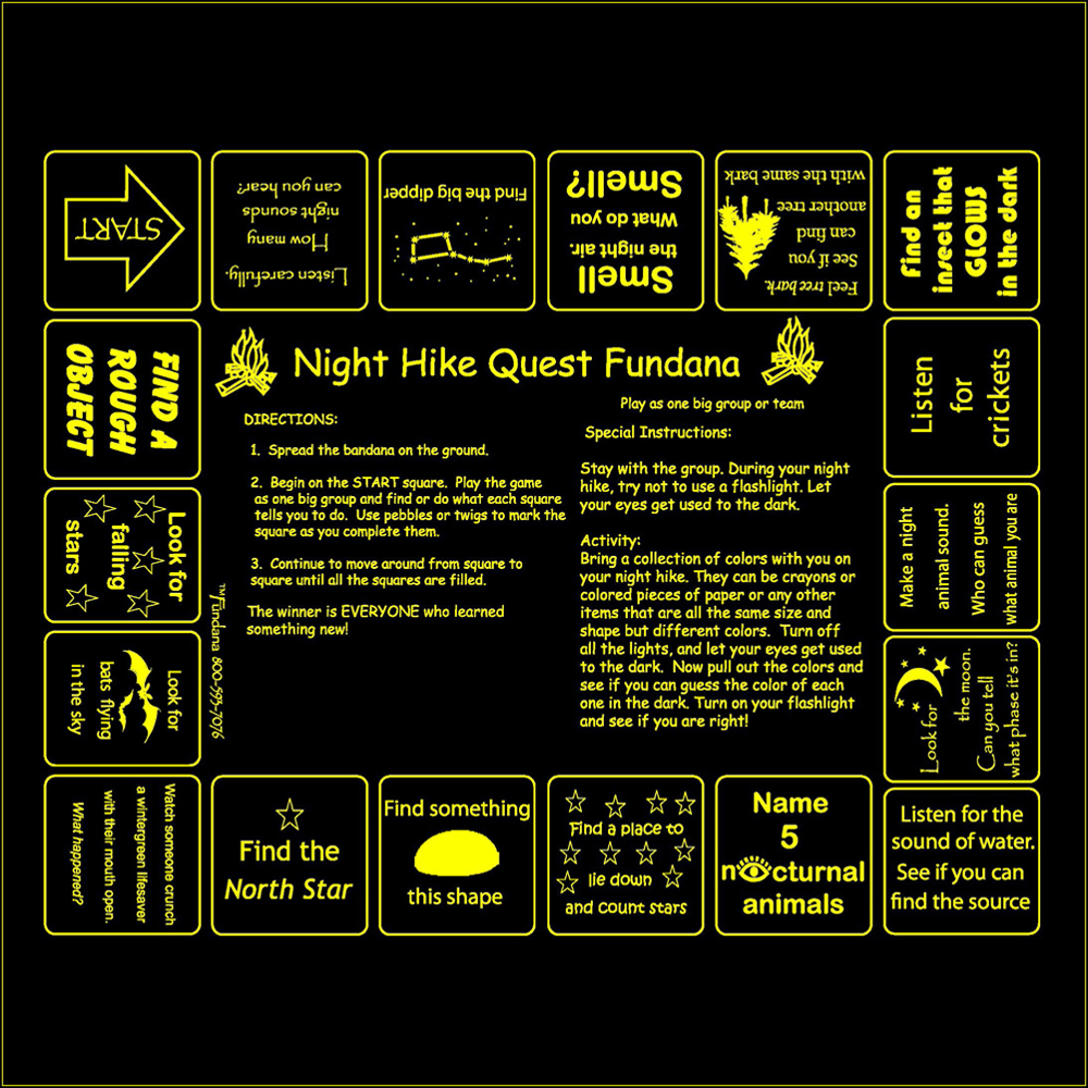 Night Hike Quest Scarf (Fundana® Bandana)