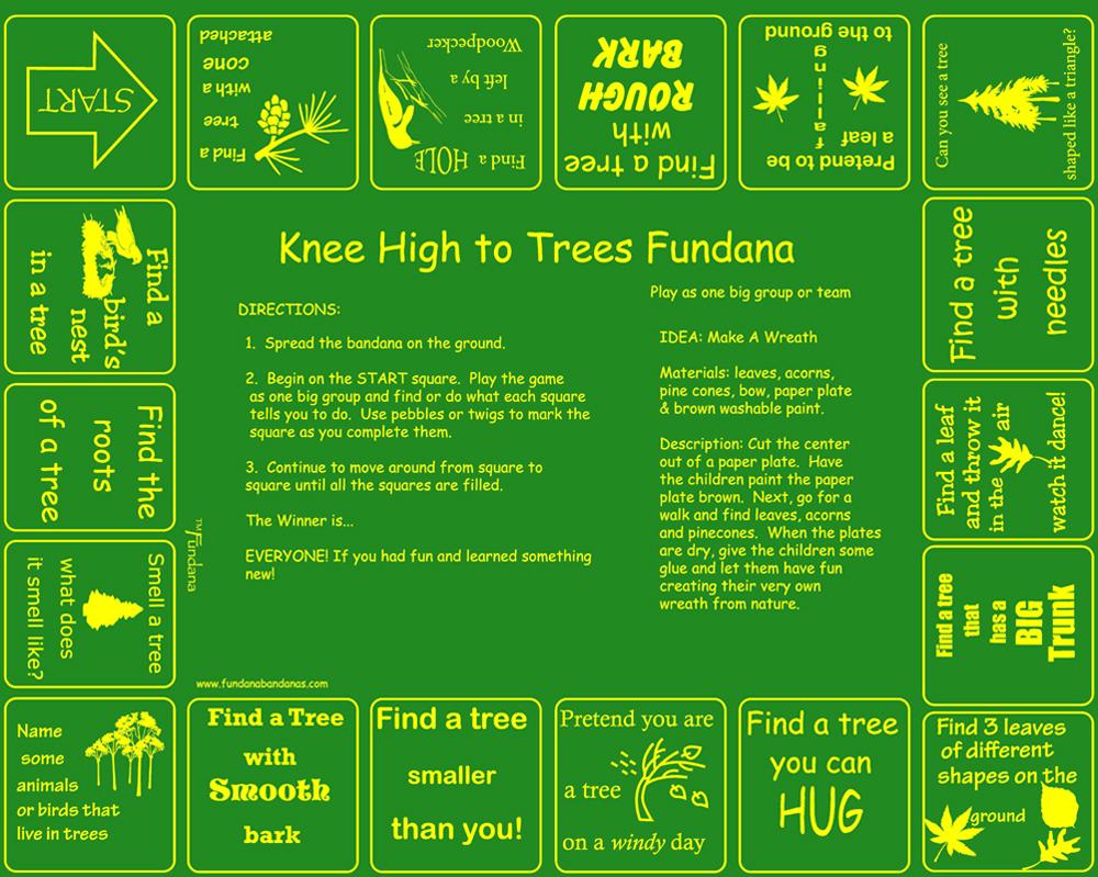 Knee High to Trees Scarf (Fundana® Knee High Bandana)