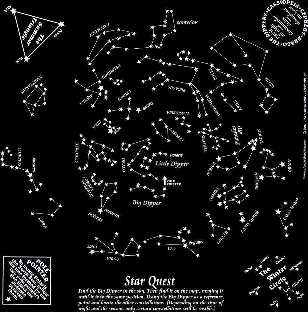 Star Quest, Glow-in-the-Dark (Fundana® Bandana)