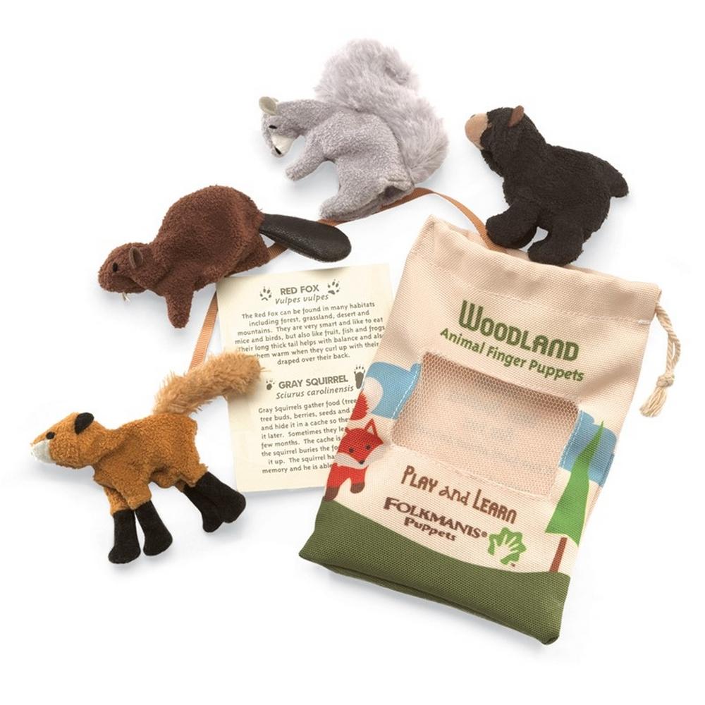 Woodland Animals Finger Puppet Set
