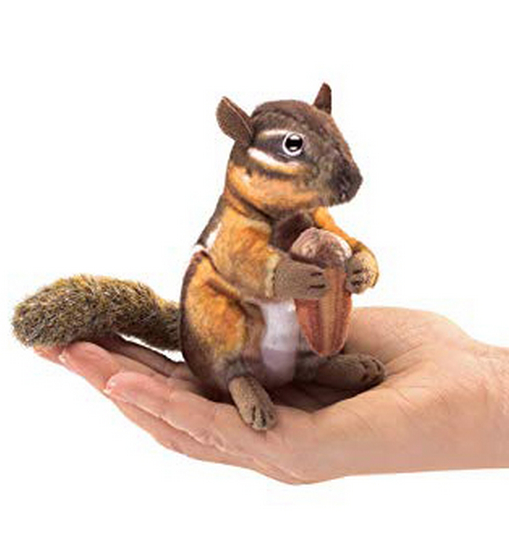 Chipmunk with Acorn Finger Puppet