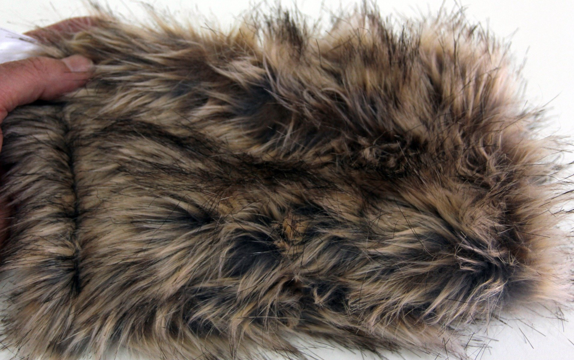GREY BADGER Faux Fur Fabric Material