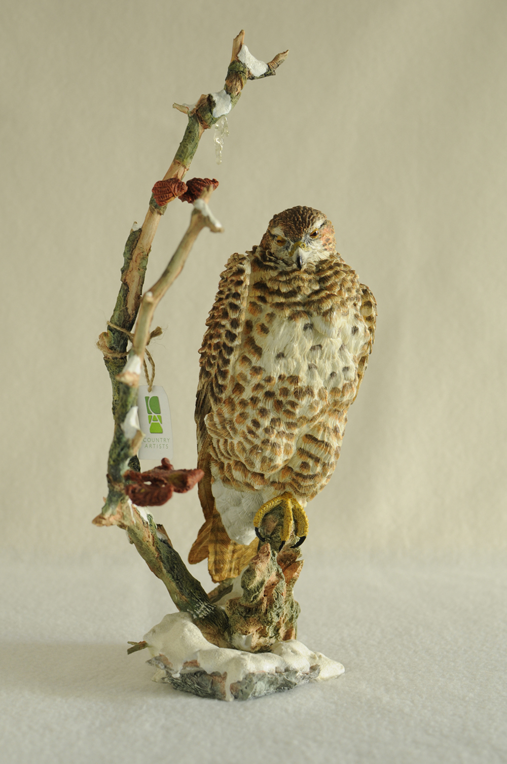 "Hawk ""Waiting"" Sculpture"