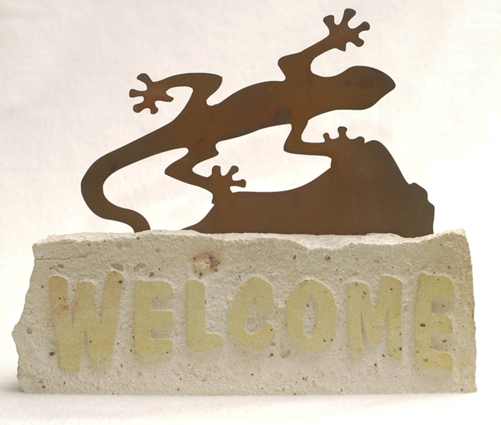 Gecko Welcome Doorstop