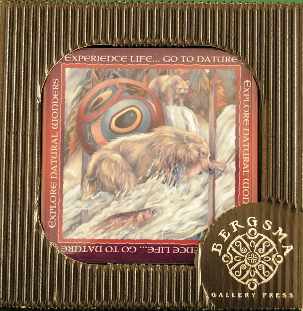 """Grizzly Bear """"River of Life"""" Decorative Tile"""