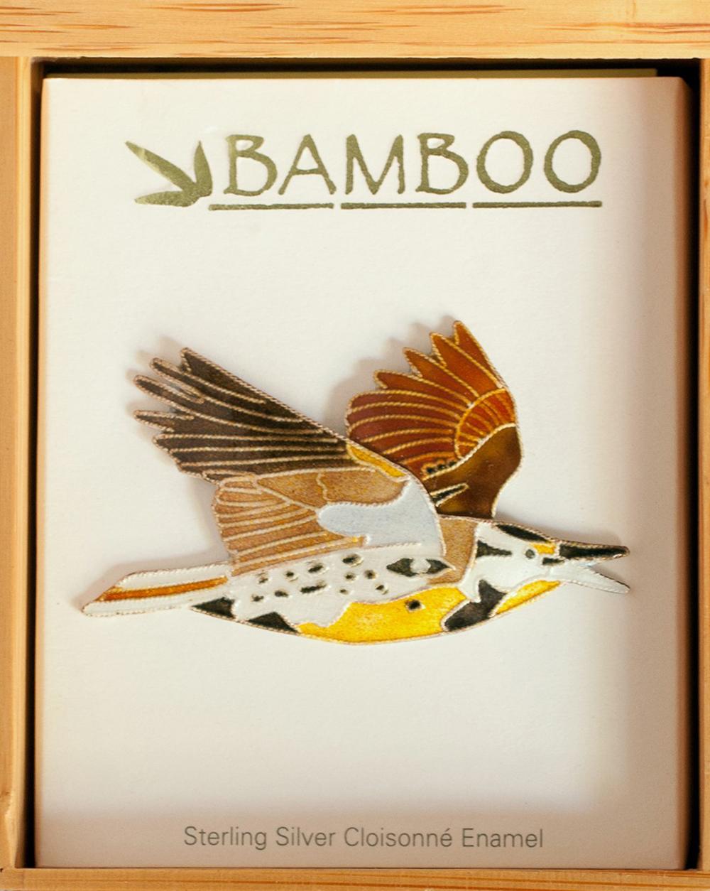 Meadowlark Pin (Bamboo Jewelry)