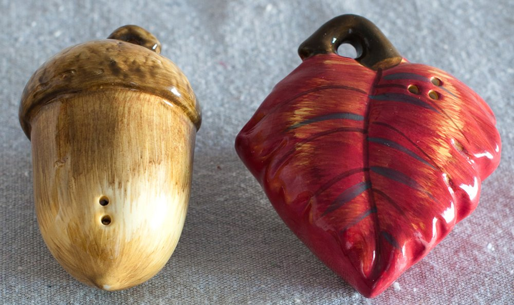 Acorn & Oak Leaf Salt & Pepper Shaker Set