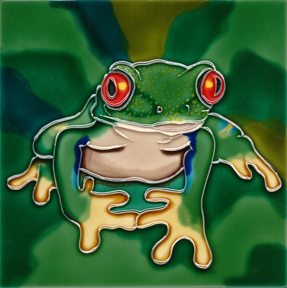 Tree Frog Decorative Tile