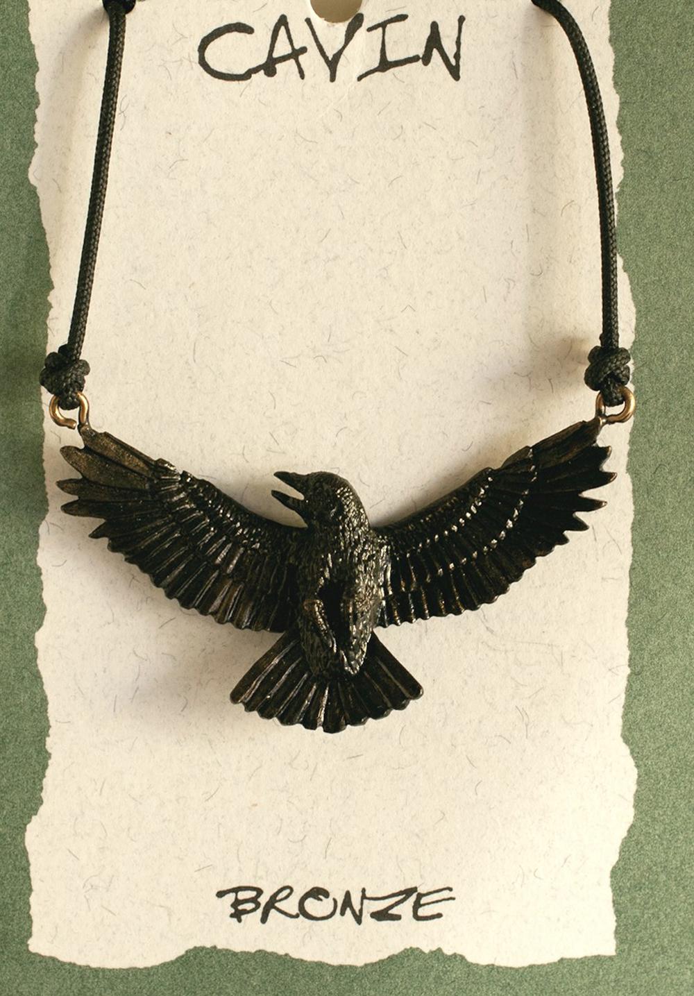 Crow Bronze Pendant (Wildlife in Bronze)