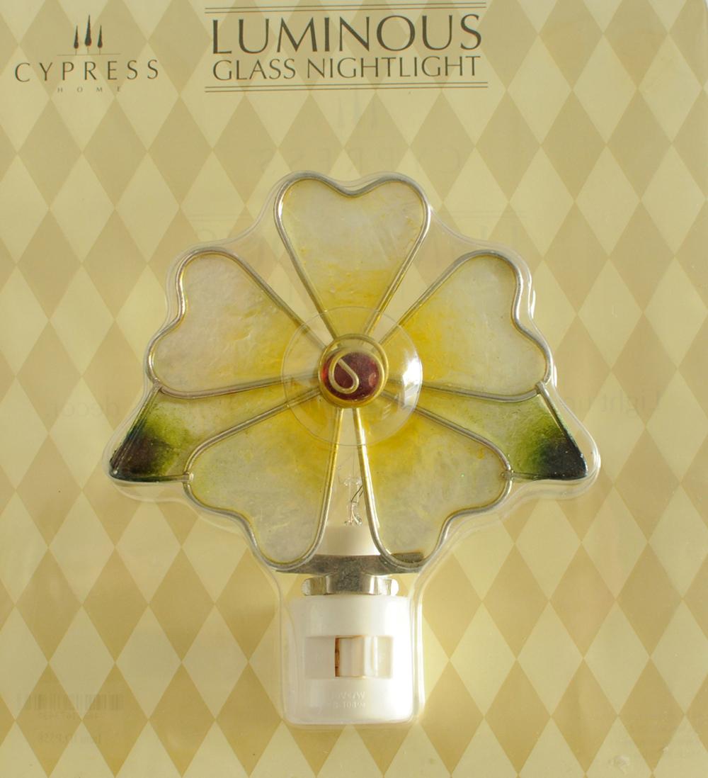 Floral Glass Nightlight