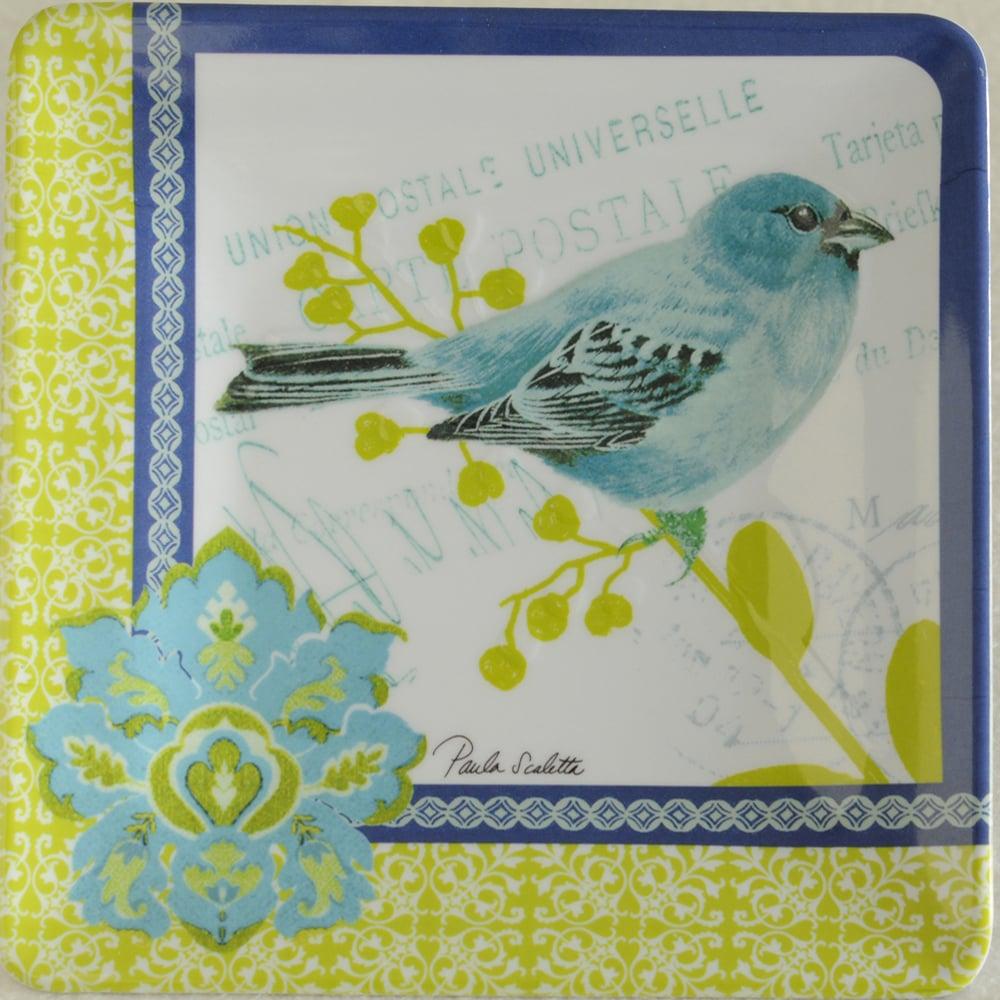 Blue Bird Post Melamine Salad Plate