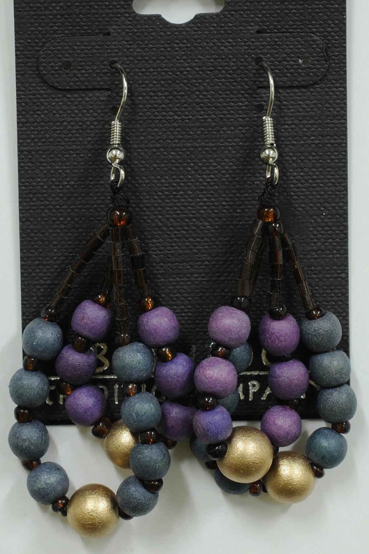 Purple & Blue Bead Earrings