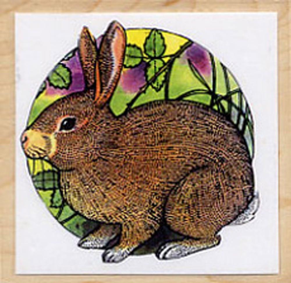 Rabbit Rubber Stamp