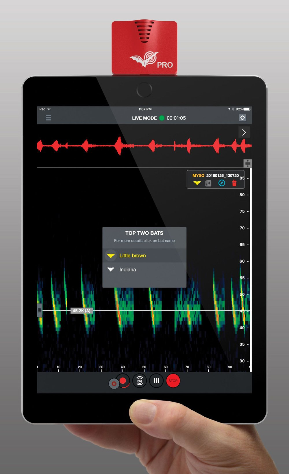Echo Meter Touch 2 Pro®: Ultrasonic Bat Detector/Recorder/Analyzer (iOS Version)