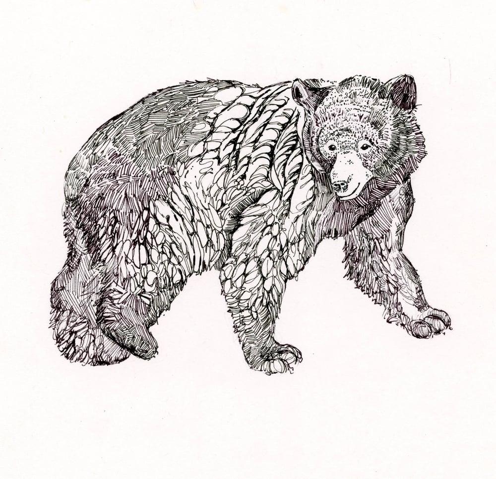 Black Bear Rubber Stamp
