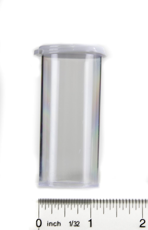 Snap Cap Vials (Clear Plastic, 12 Dram, Pack of 12)