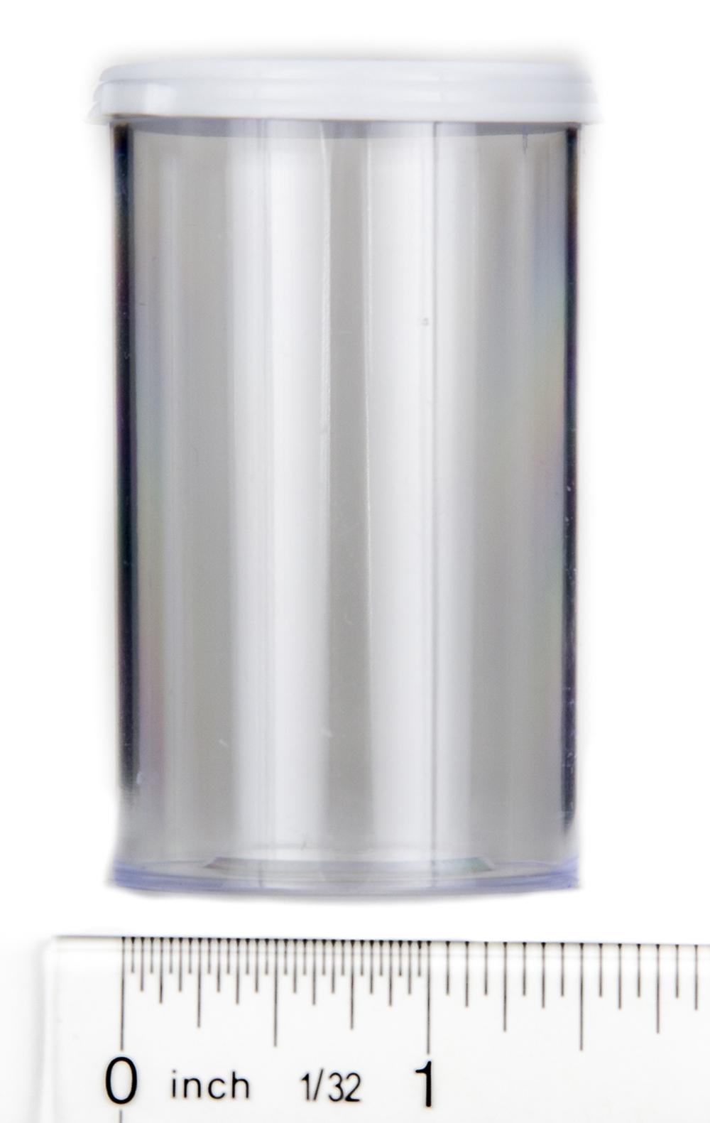 Snap Cap Vials (Clear Plastic, 20 Dram, Pack of 12)