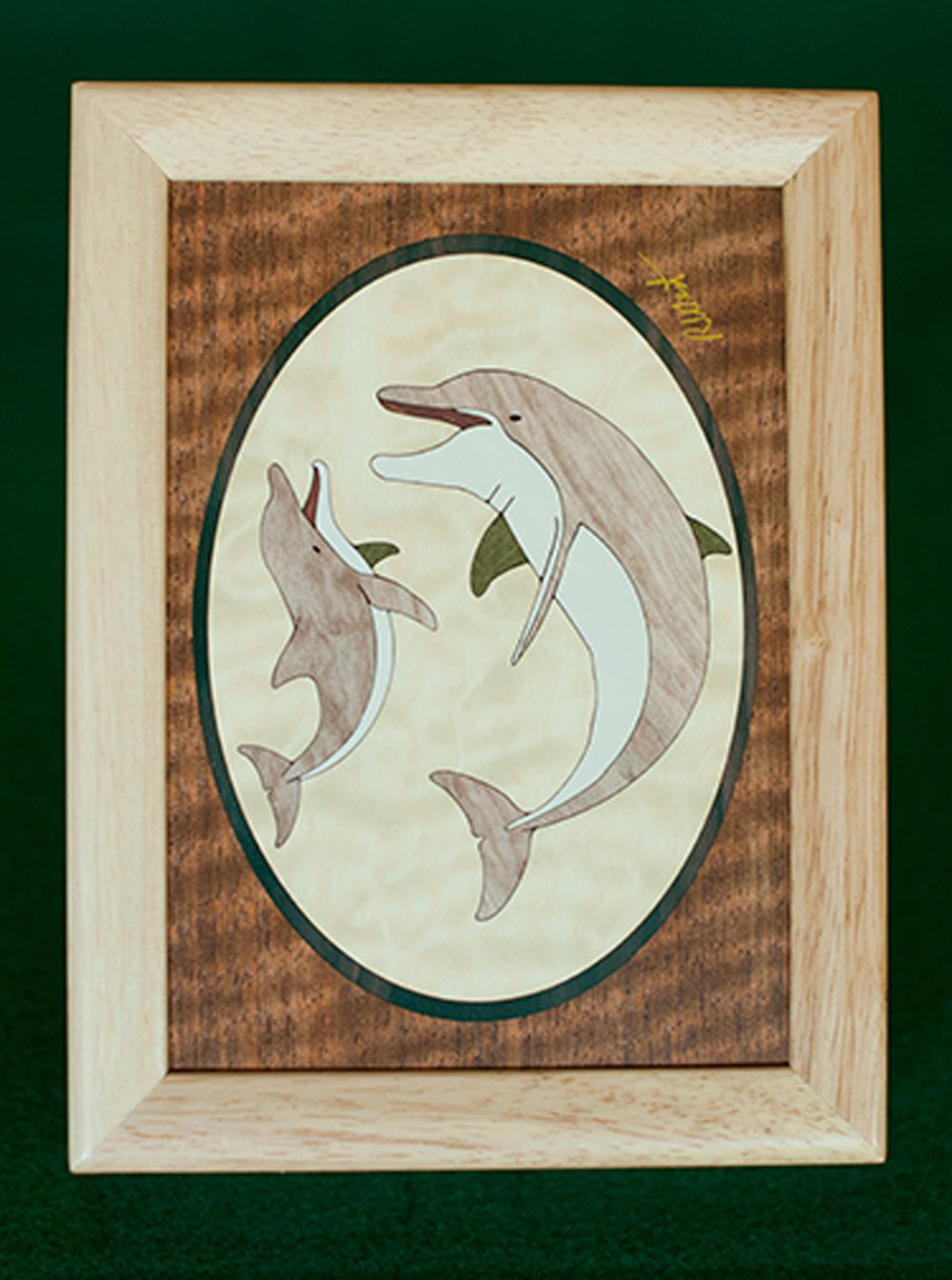 "Dolphin Wood Box (6"" x 8"")"