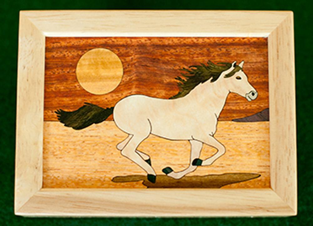 """Mustang Wood Box (4"""" x 5"""")"""